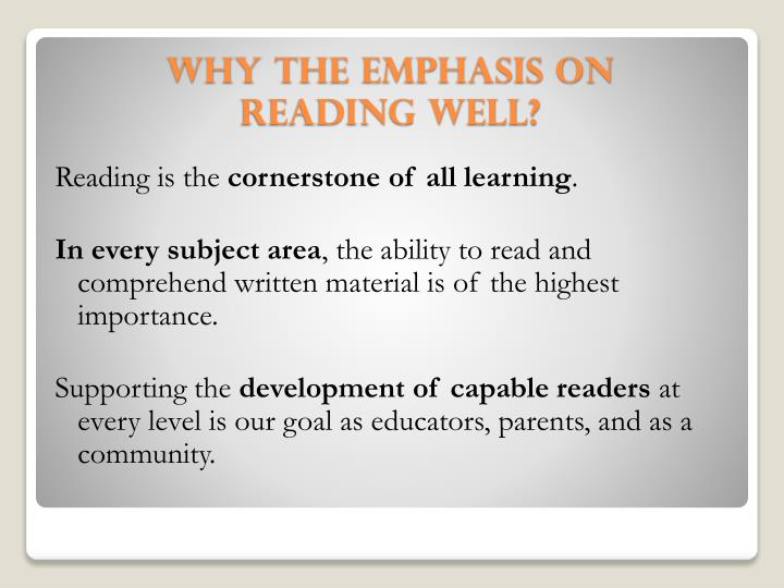 Reading is the