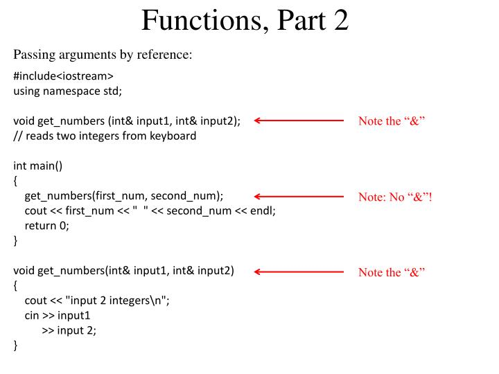 Functions, Part 2