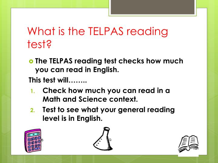 What is the TELPAS reading test?