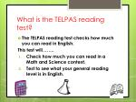 what is the telpas reading test