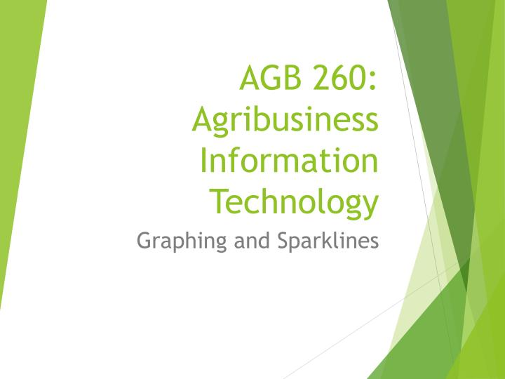 Agb 260 agribusiness information technology