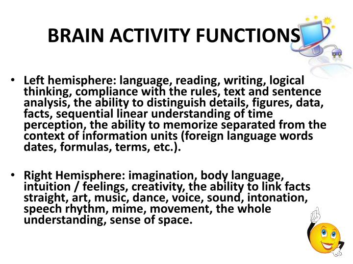 BRAIN ACTIVITY FUNCTIONS