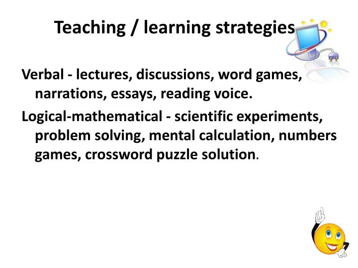 Teaching learning strategies