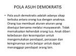pola asuh demokratis