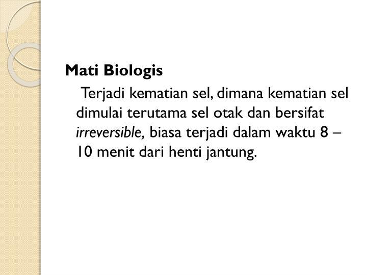 Mati Biologis