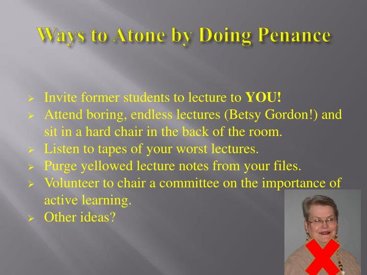 Ways to Atone by Doing Penance