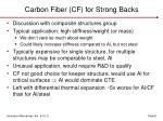 carbon fiber cf for strong backs