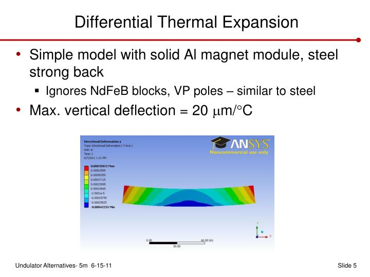 Differential Thermal Expansion