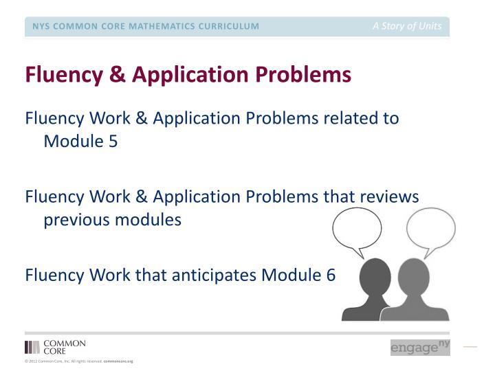 Fluency & Application Problems