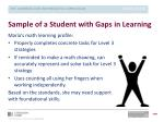 sample of a student with gaps in learning2
