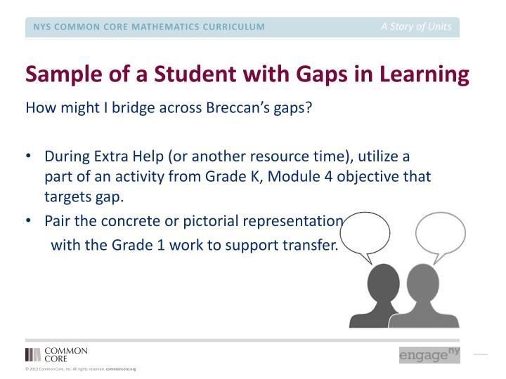 Sample of a Student with Gaps in Learning