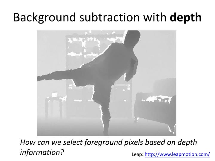 Background subtraction with