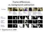frame differences vs background subtraction