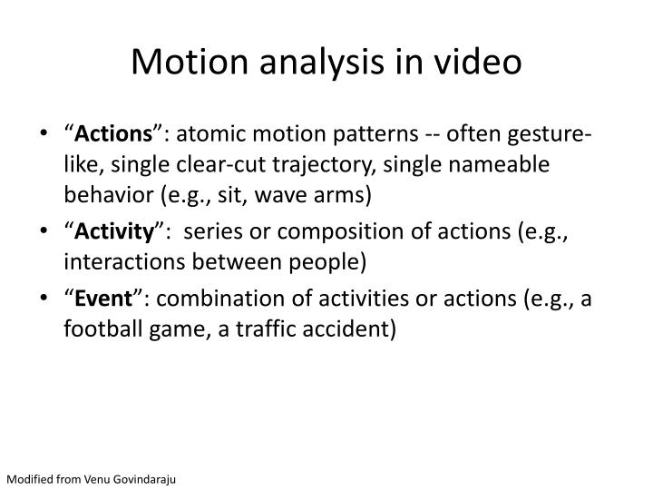 Motion analysis in