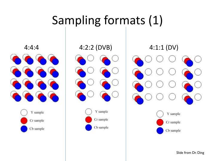 Sampling formats (1)