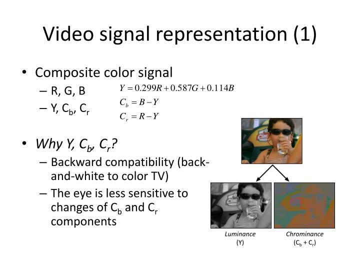 Video signal representation (1)