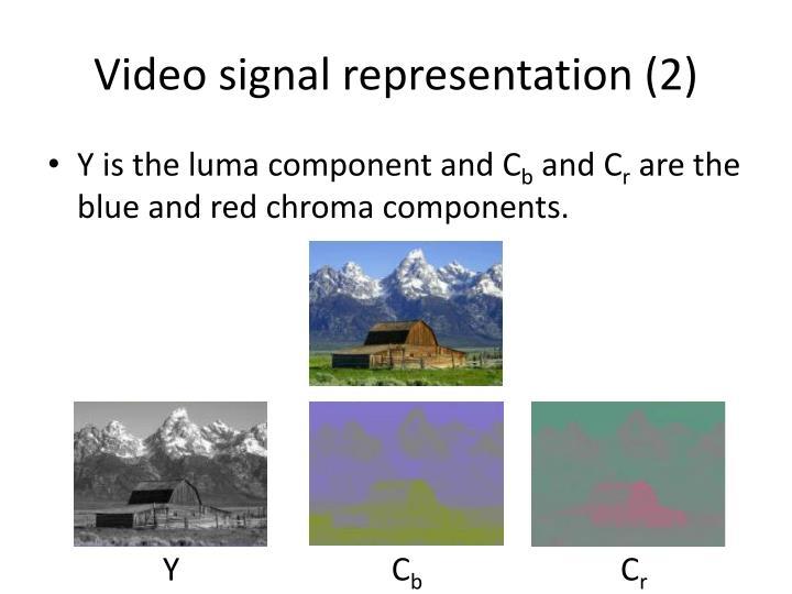 Video signal representation (2)