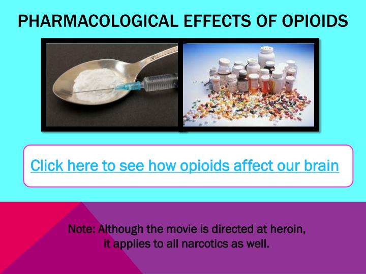 Pharmacological Effects of Opioids
