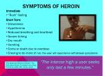 symptoms of heroin