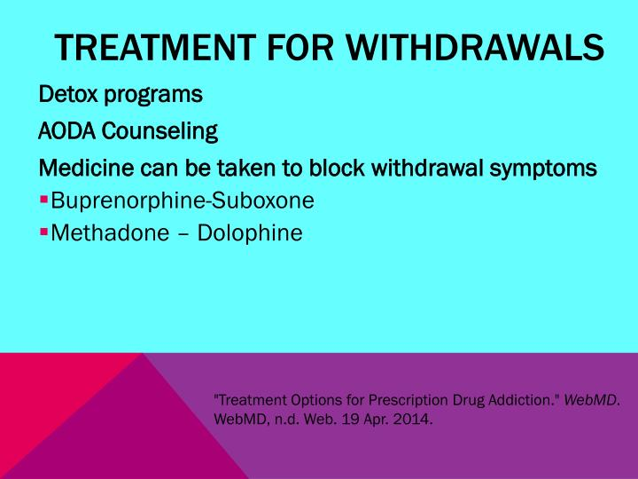 Treatment for Withdrawals