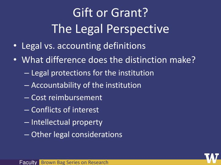 Gift or Grant?