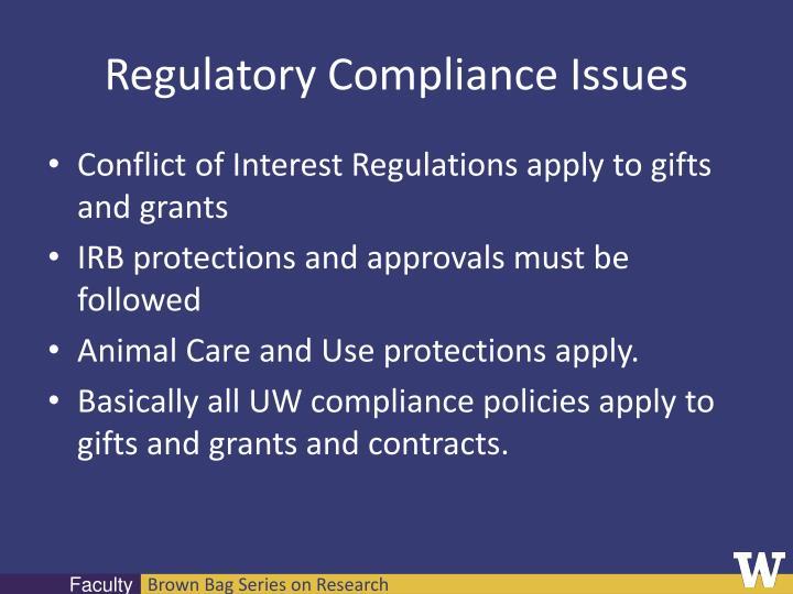 Regulatory Compliance Issues