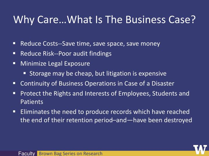 Why Care…What Is The