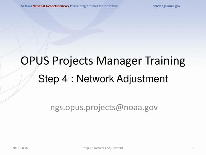ngs opus projects@noaa gov
