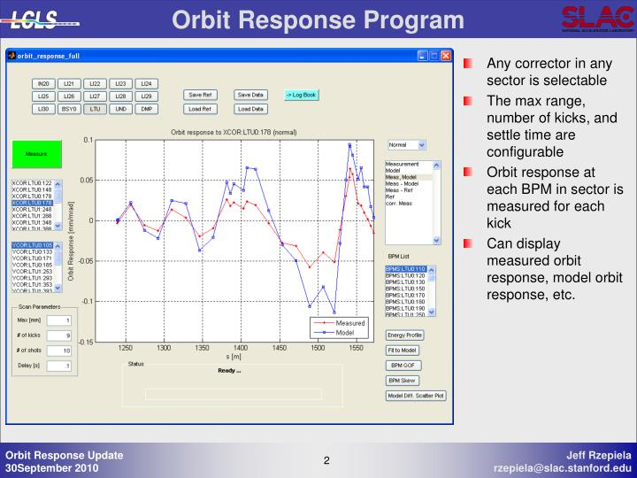 Orbit Response Program