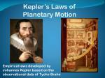 kepler s laws of planetary motion