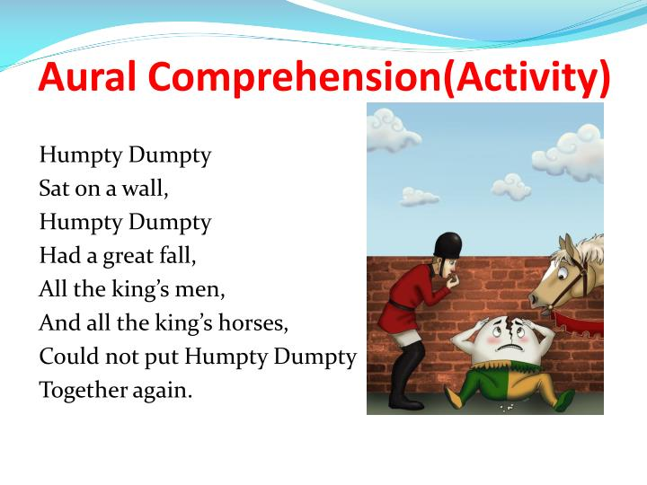 Aural Comprehension(Activity)