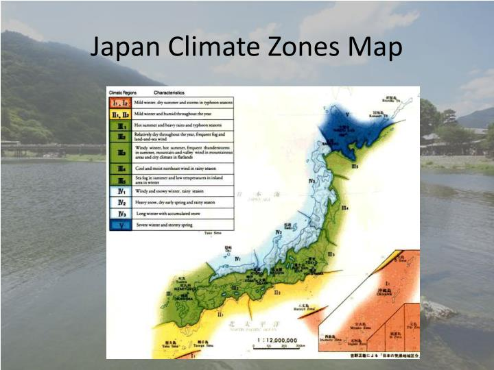 Japan Climate Zones Map