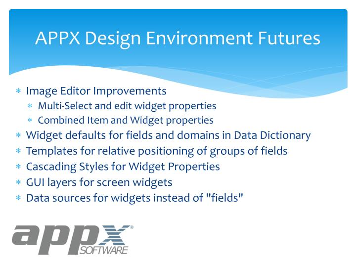 APPX Design Environment Futures