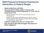 dod proposal to enhance commercial interactions at federal ranges