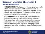spaceport licensing observation recommendation