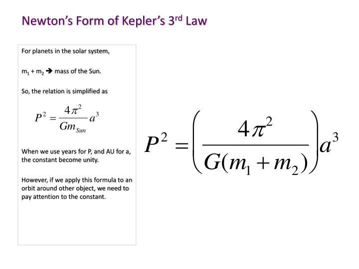 Newton's Form of