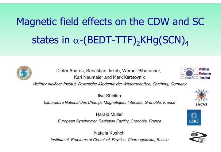 Magnetic field effects on the CDW and SC states in