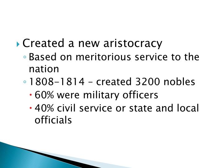 Created a new aristocracy