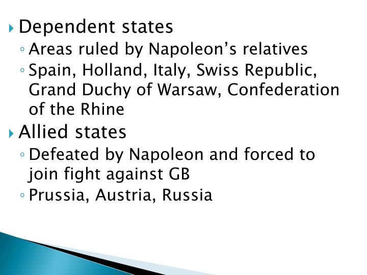 Dependent states