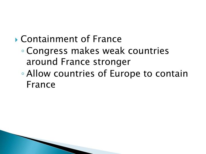 Containment of France