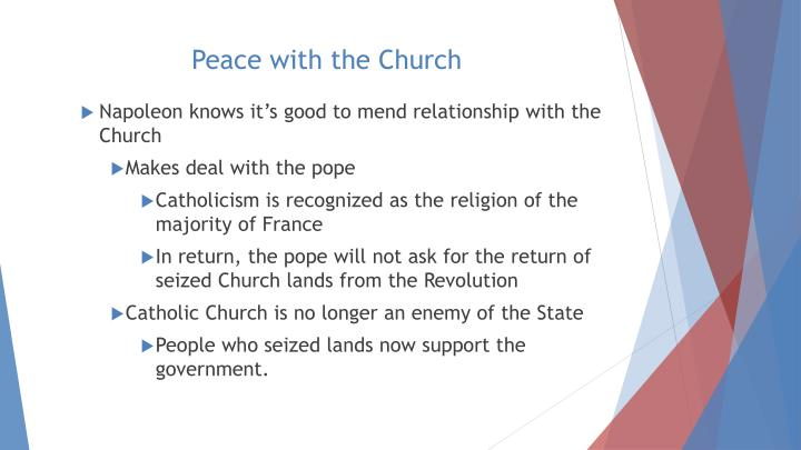 Peace with the Church