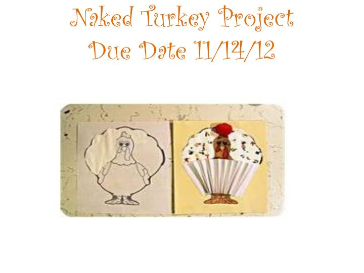 Naked turkey project due date 11 14 121