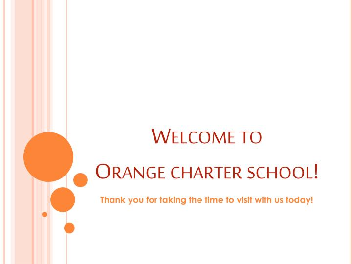 Welcome to orange charter school