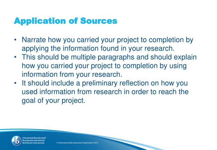 Application of Sources