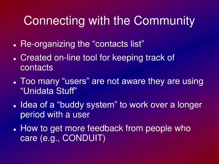 Connecting with the Community
