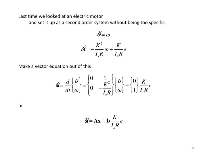 Last time we looked at an electric motor