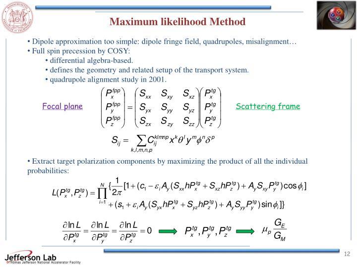 Maximum likelihood Method
