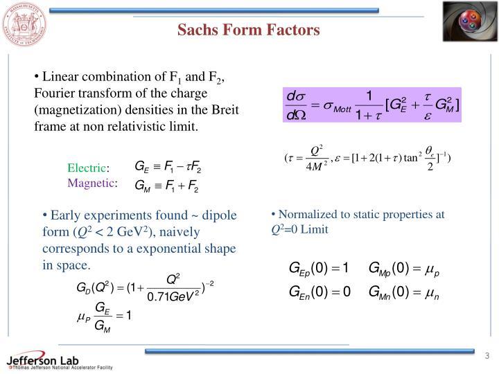 Sachs Form Factors
