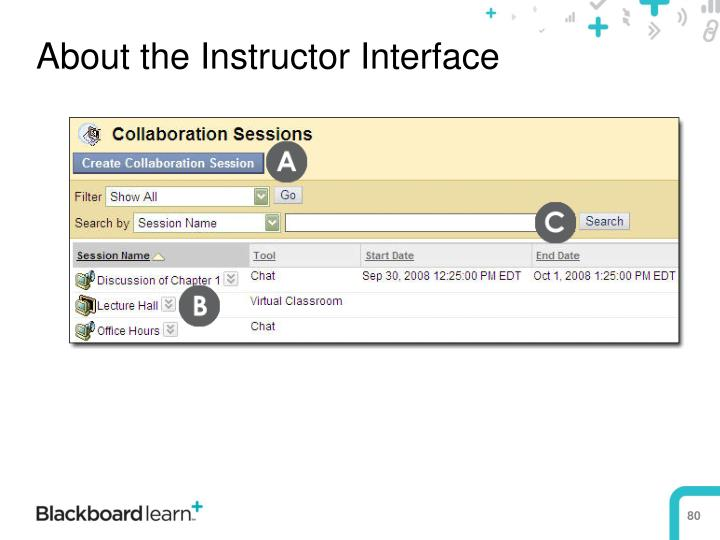 About the Instructor Interface
