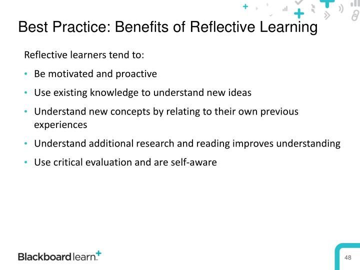 Best Practice: Benefits of Reflective Learning